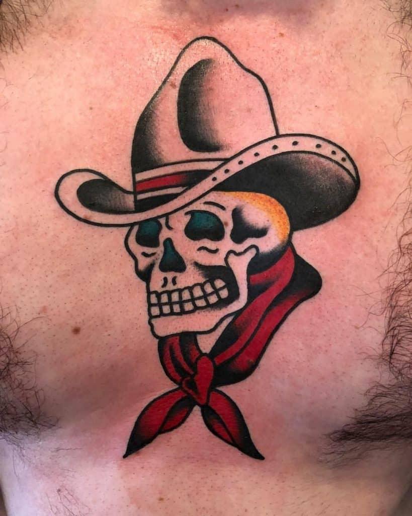 Cowboy Skull Tattoo