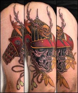 Japanese Samurai Skull Tattoo