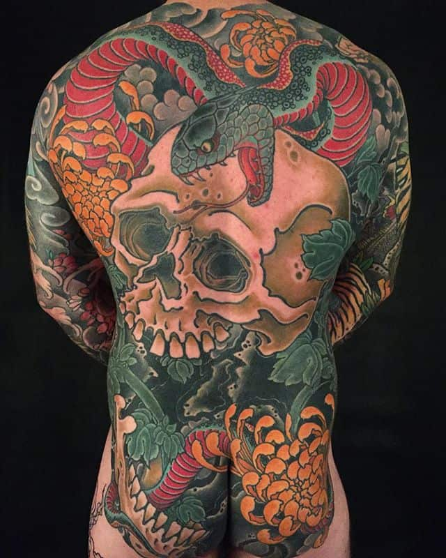 Japanese Skull Tattoo