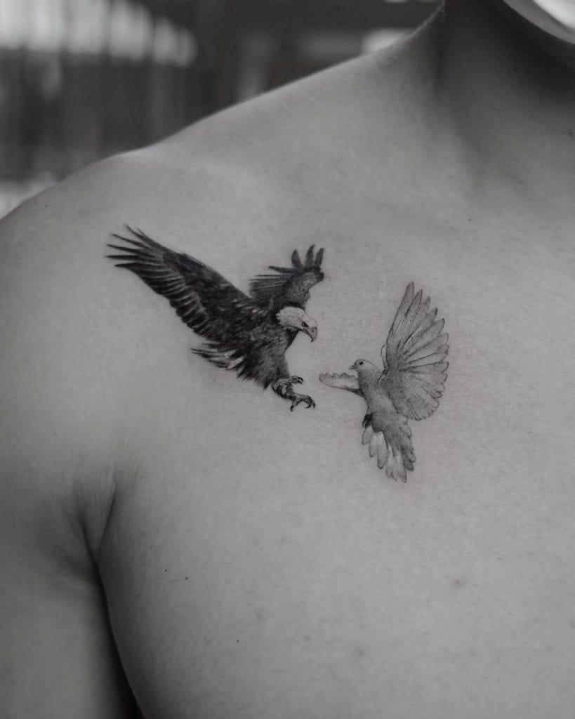 Small Bald Eagle Tattoo