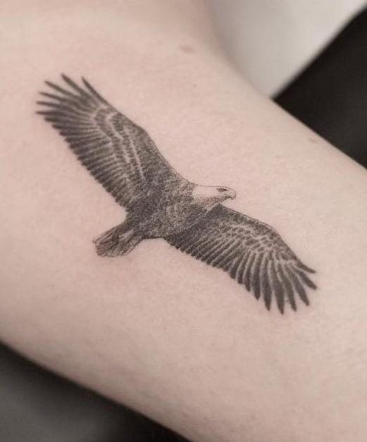 Soaring Bald Eagle Tattoo