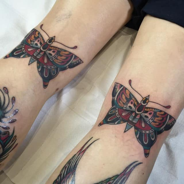 Traditional Butterfly Tattoo