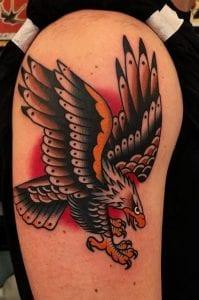 Traditional Eagle Tattoo on Shoulder