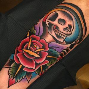 Traditional Grim Reaper Tattoo