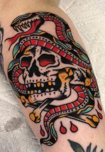 Traditional Skull Tattoo
