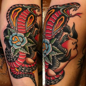Traditional Snake Tattoo