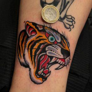 Traditional Tiger Tattoo