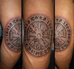 Viking Compass Elbow Tattoo