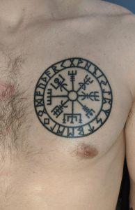 Viking Compass Tattoo on Chest