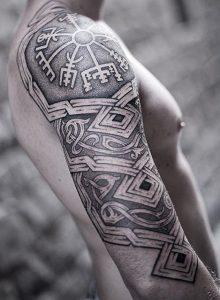Viking Compass Tattoo on Shoulder