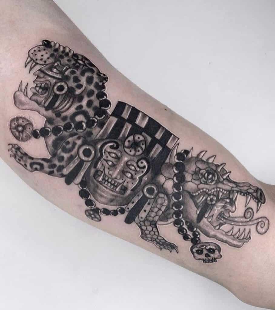 Aztec Crocodile Tattoo