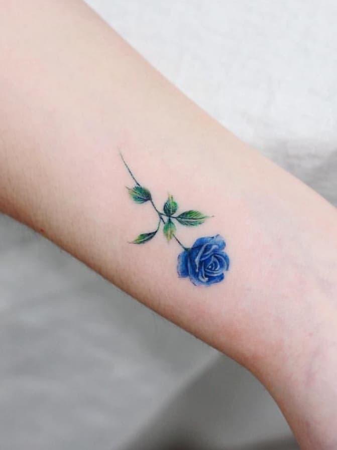 Blue Rose Tattoo