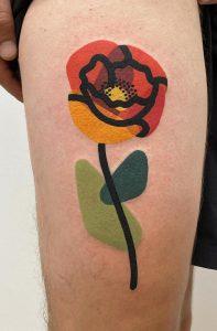 Geometric Flower Tattoo