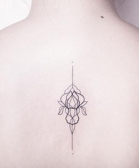 Geometric Iris Tattoo