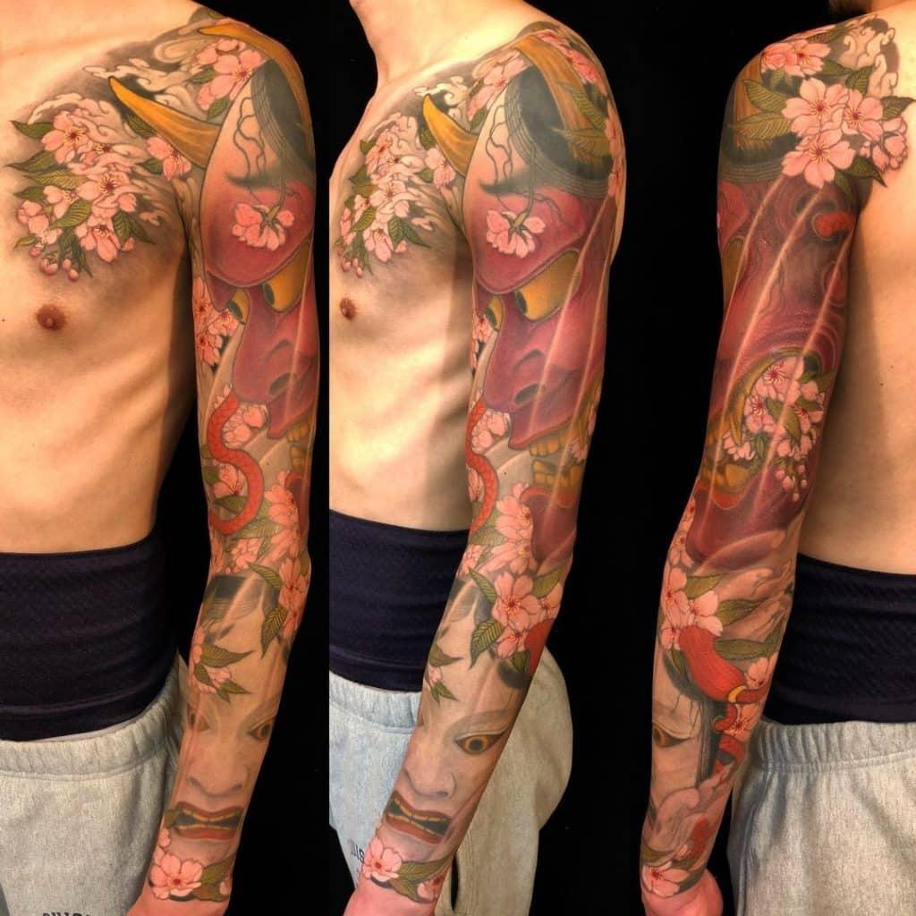 Hannya Mask Tattoo Sleeve