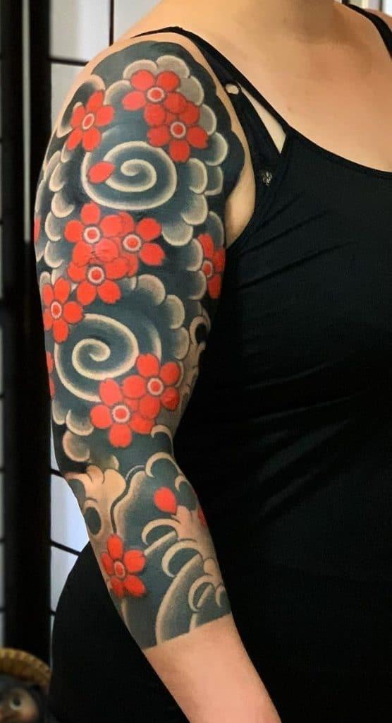 Japanese Flower Tattoo
