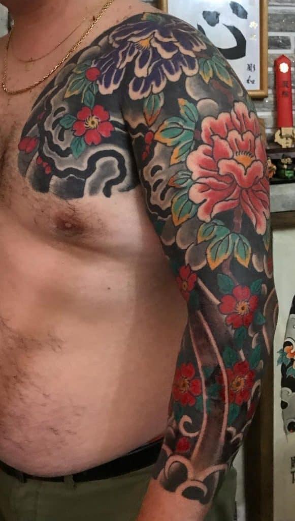 Japanese Flower Tattoo Sleeve