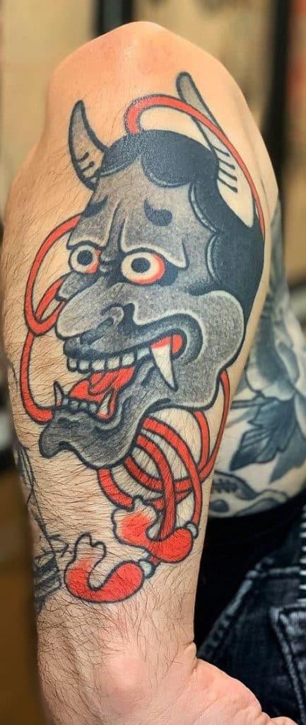 Japanese Traditional Hannya Mask Tattoo
