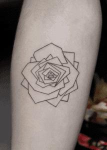 Minimalist Geometric Flower Tattoo