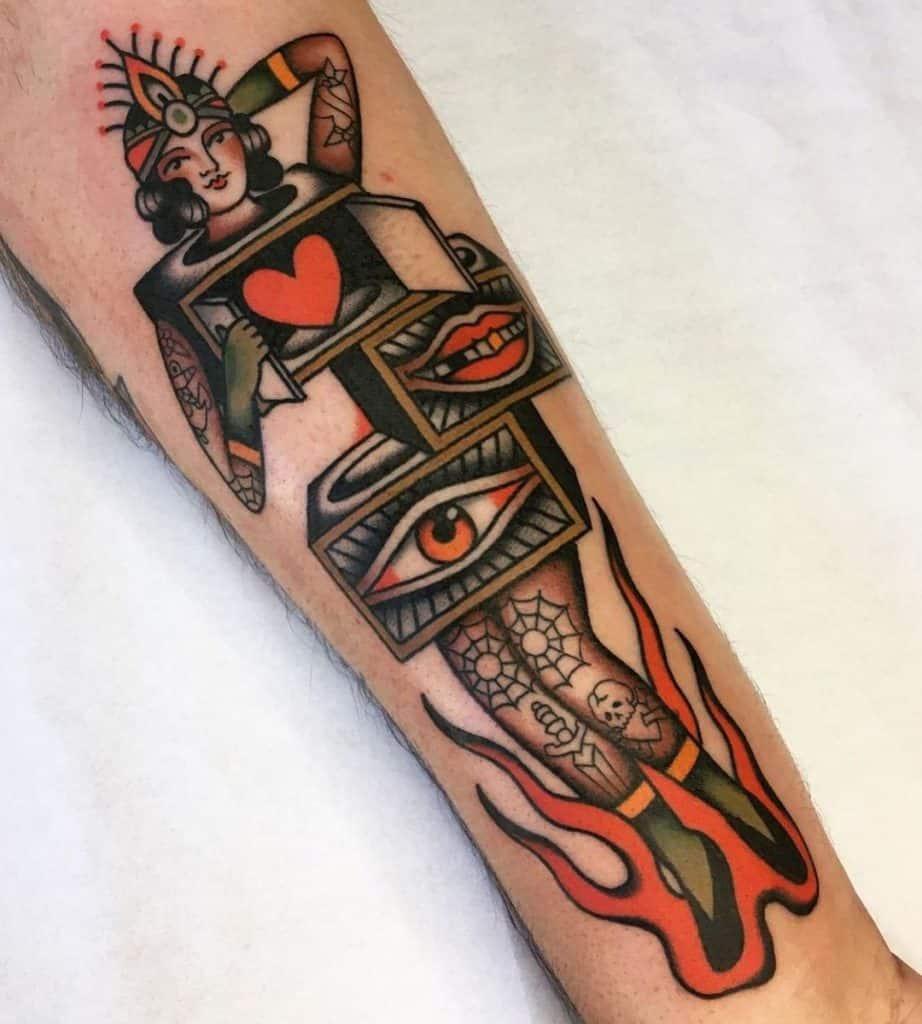 Moira Ramone's Traditional Tattoo