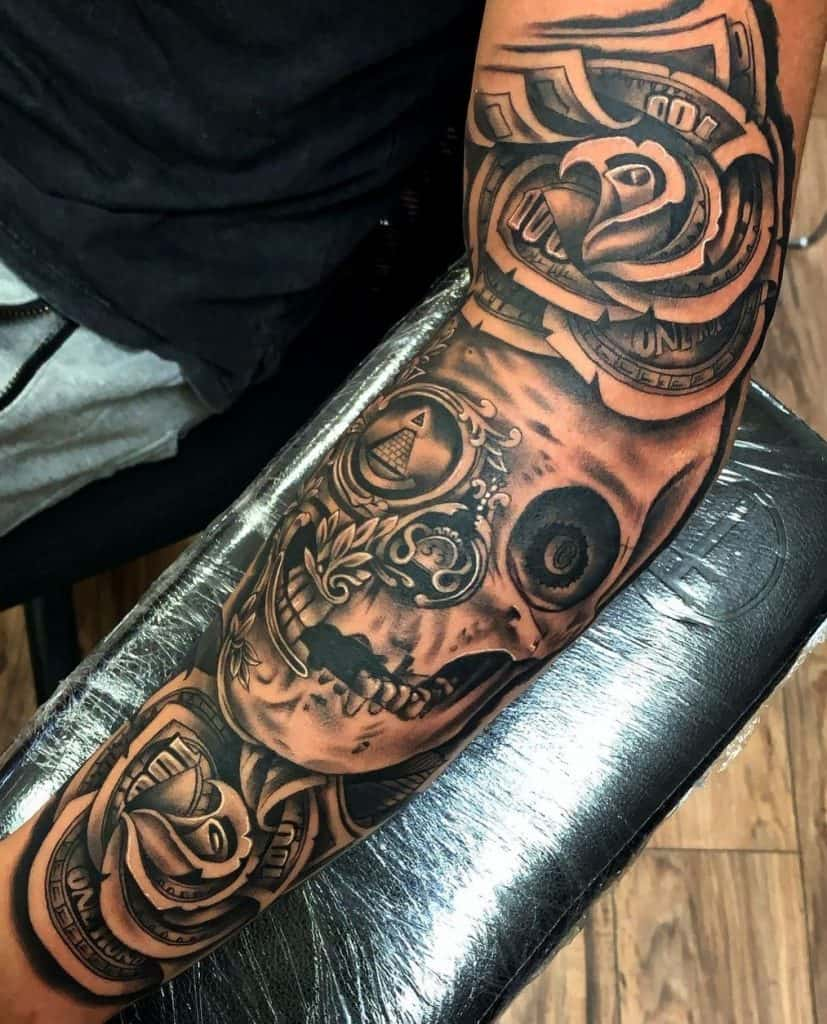 Money Rose Tattoo