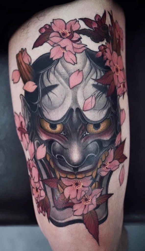 Neo-Japanese Hannya Mask Tattoo