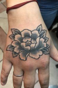 Small Japanese Flower Tattoo