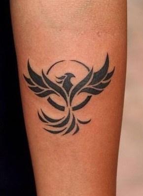 Small Tribal Phoenix Tattoo