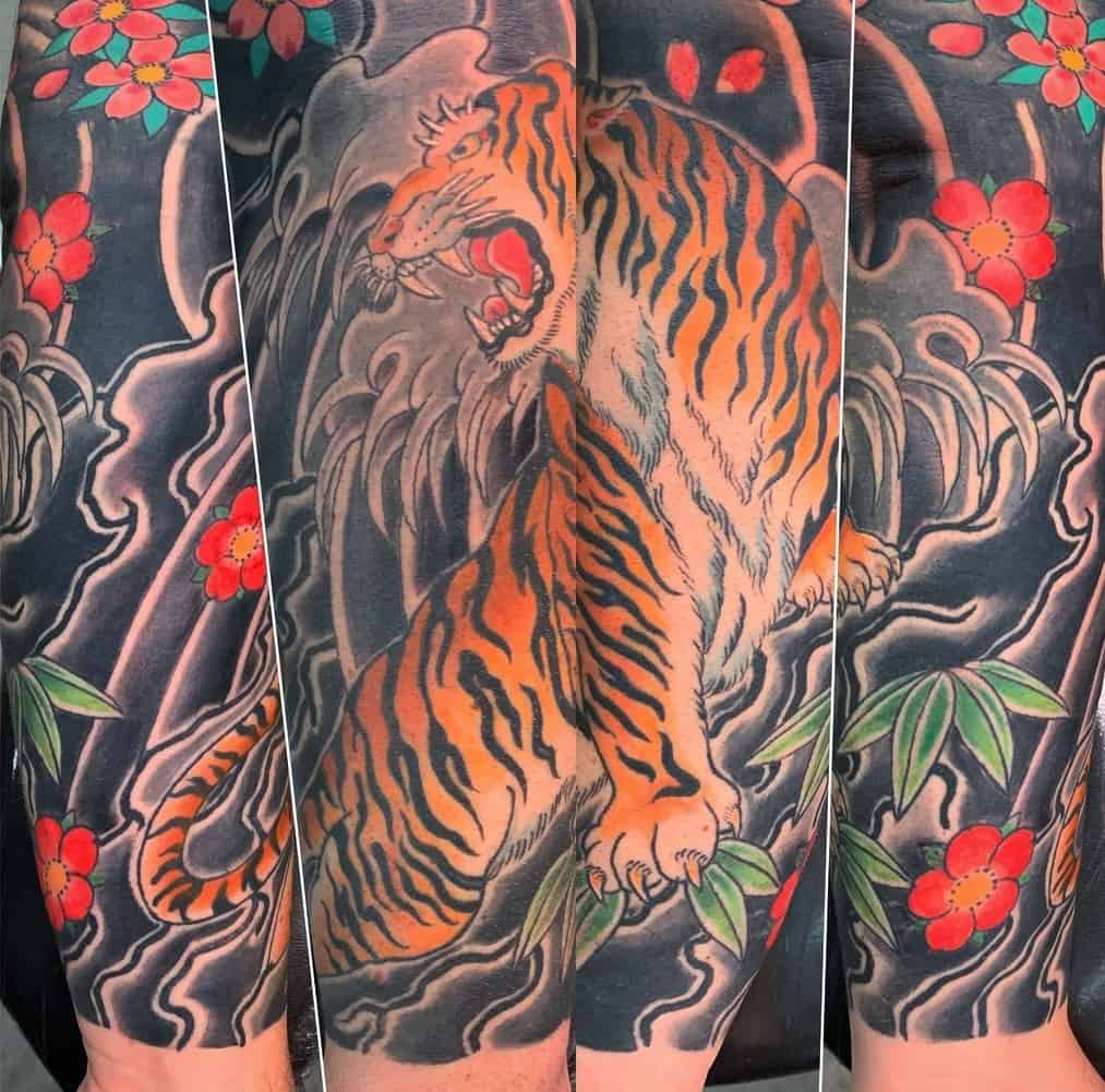 Tebori Tiger Tattoo