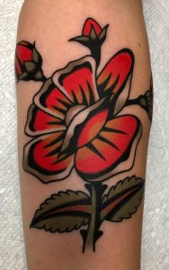 Traditional Flower Tattoo
