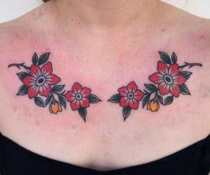 Traditional Flower Tattoo