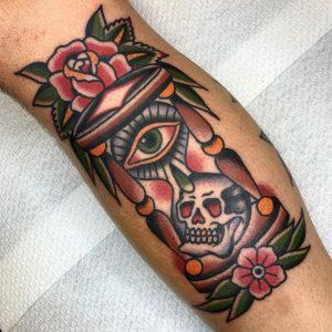 Traditional Hourglass Tattoo