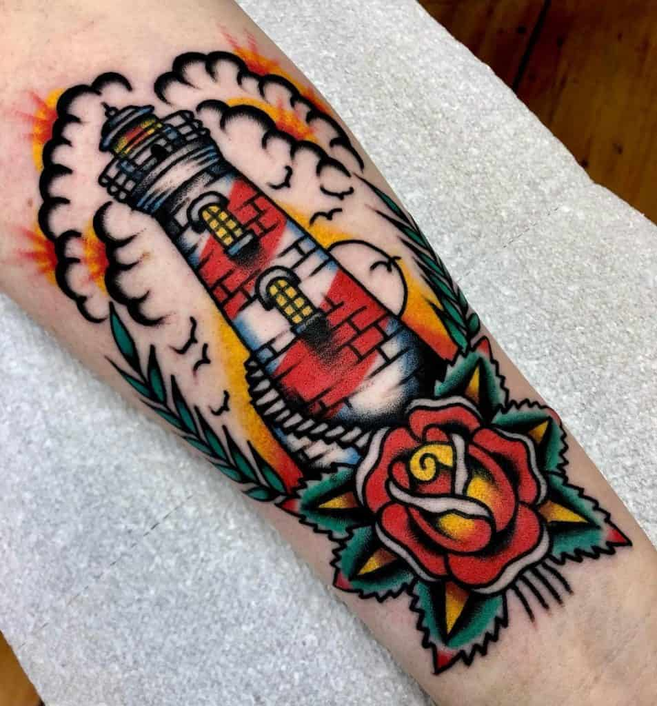 Traditional Lighthouse Tattoo