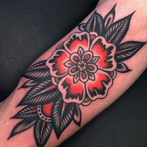 Traditional Lotus Tattoo