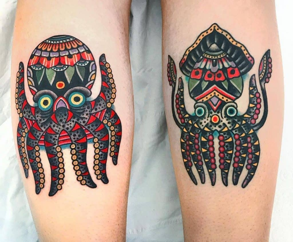 Traditional Octopus Tattoo