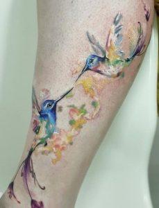 Two Hummingbird Tattoo