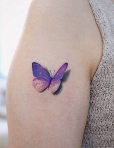 Watercolor 3D Butterfly Tattoo