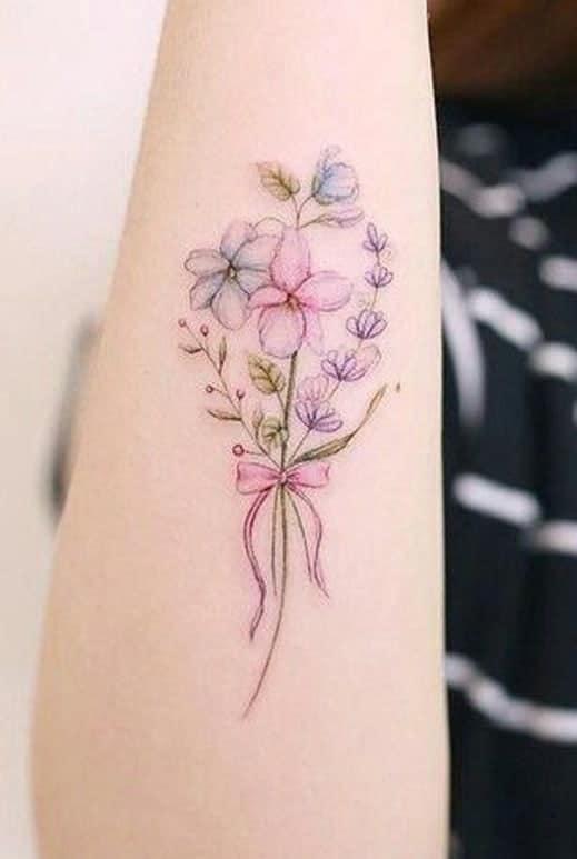 Flower Bouquet Tattoo