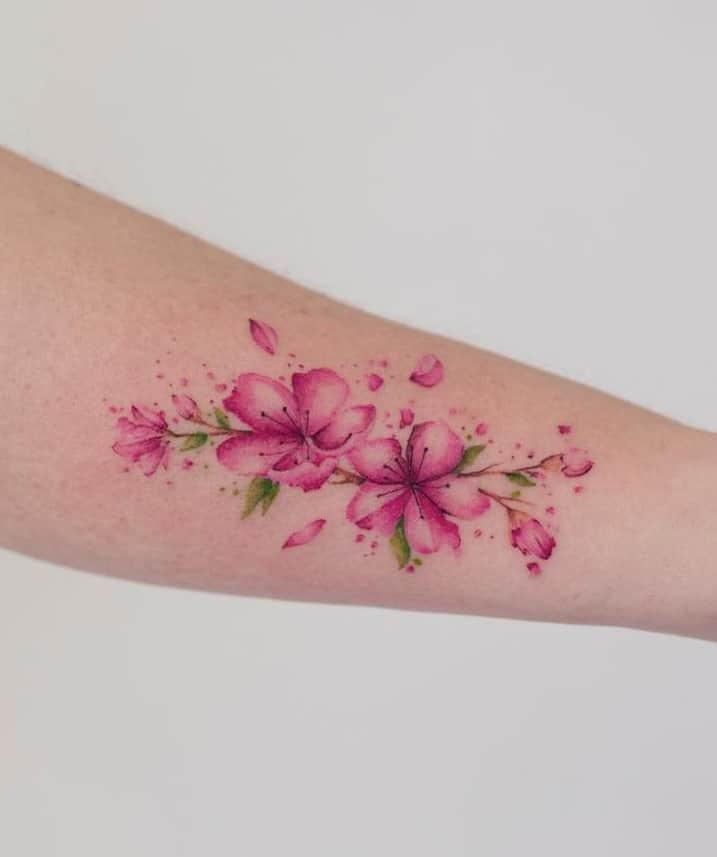 Watercolor Flower Tattoo