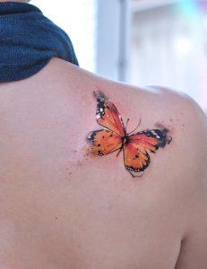 Watercolor Monarch Butterfly Tattoo