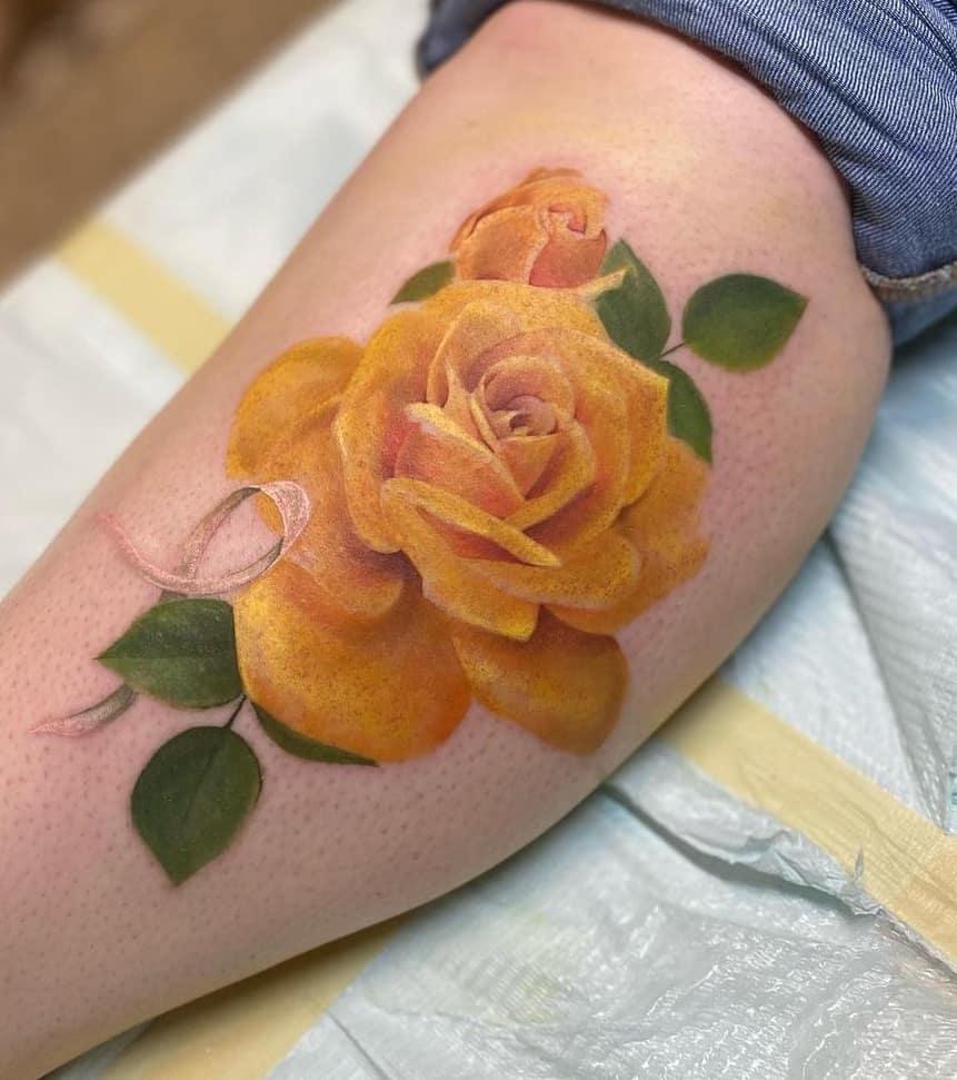 Yellow Rose Tattoo