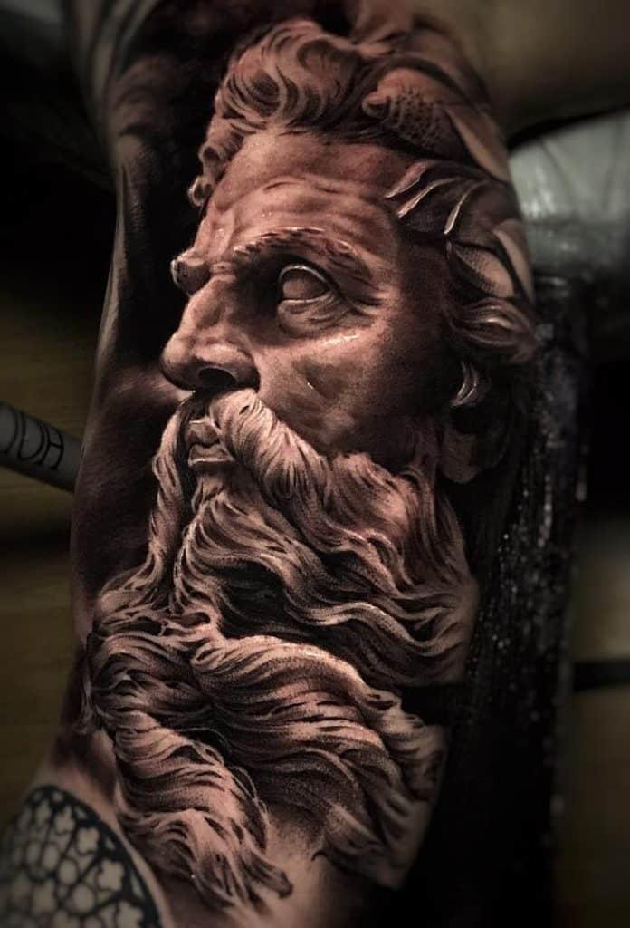 3D Greek Mythological Tattoo