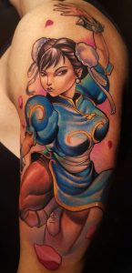 Anime Pin-Up Tattoo