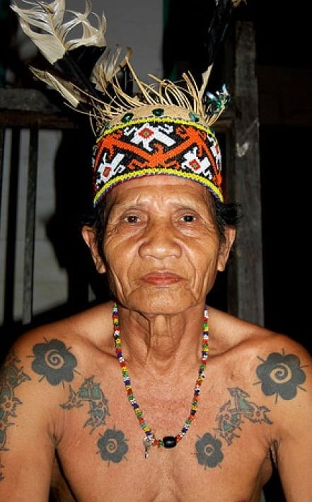 Bungai Terung tattoos