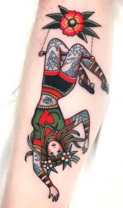 Circus Assistant Tattoo