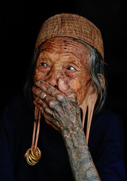 Dayak Woman Tattooed