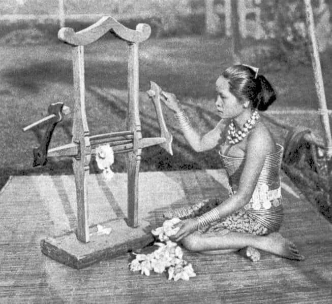 Dayak Woman Weaving