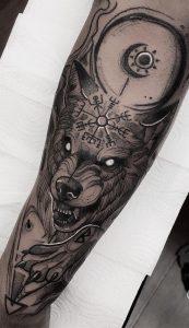 Fenrir Forearm Tattoo
