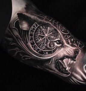 Fenrir Head Tattoo