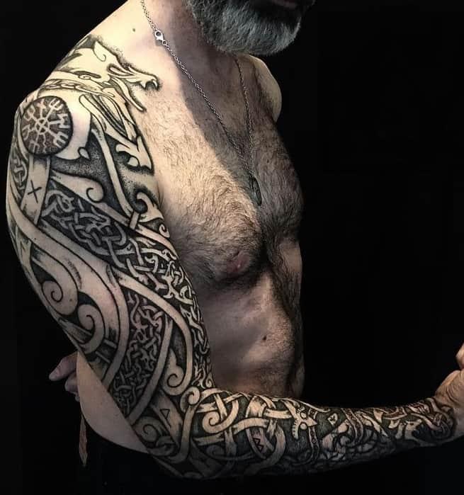 Fenrir Tattoo Sleeve